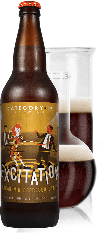 Excitation Beer Label Mockup