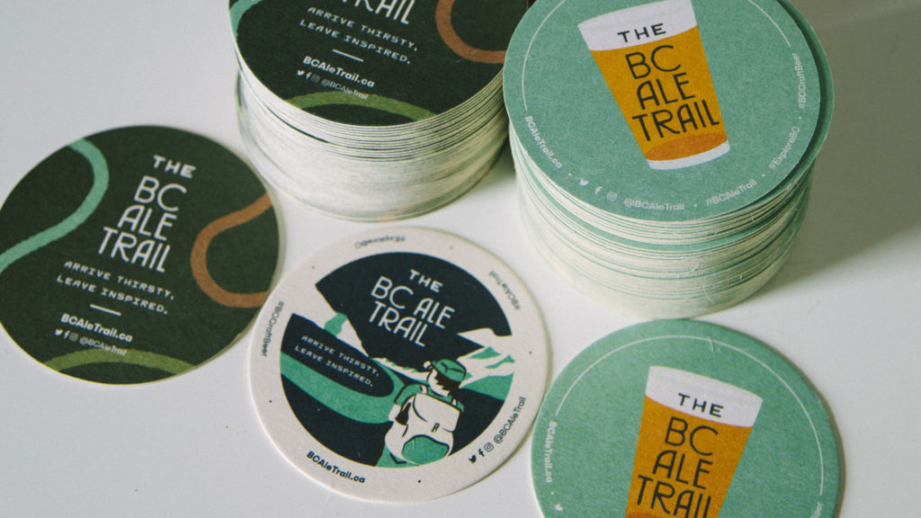 Ale Trail Beer Coaster Designs Variety