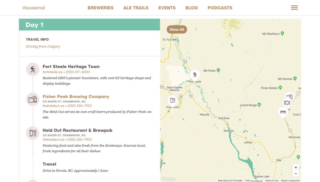 Website Ale Trail View